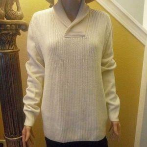 H&M cream chunky knit sweater